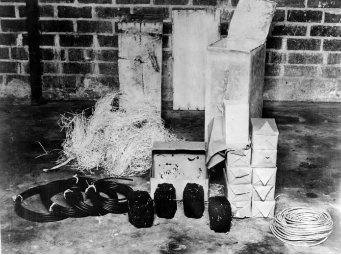 Explosives and Equipment that Were Buried by 4 Nazi Spies in Ponte Vedra Beach, Florida